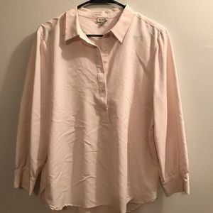 Cremieux cream/beige tunic top NWOT sz L